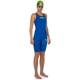 arena Powerskin Carbon Air 2 Full Body Short Leg Closed Back Dame electric blue/grey/yellow